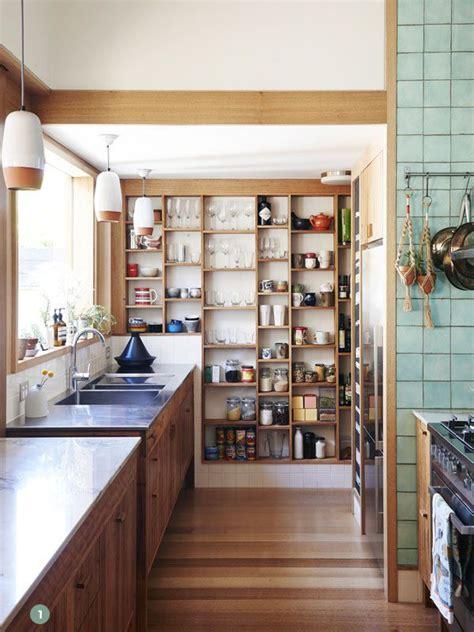 kitchen inspiration  stylish  organized open pantries curbly diy design decor
