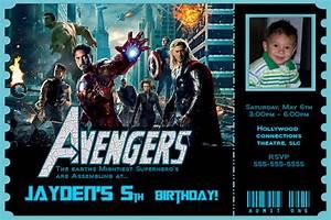 Avengers Invitation Design The Avengers Birthday Invitation 2 Avengers Movie