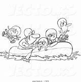 Rafting Raft Leishman Toonaday Vecto sketch template