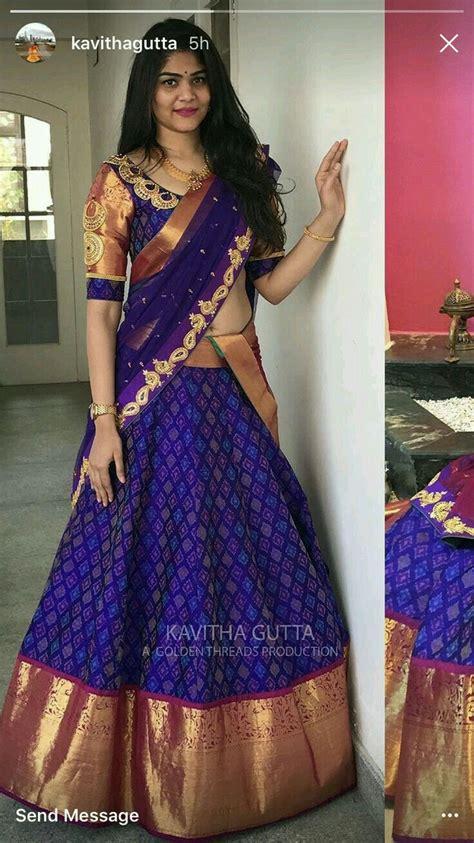 half saree half saree in 2019 half saree designs half saree lehenga saree blouse designs