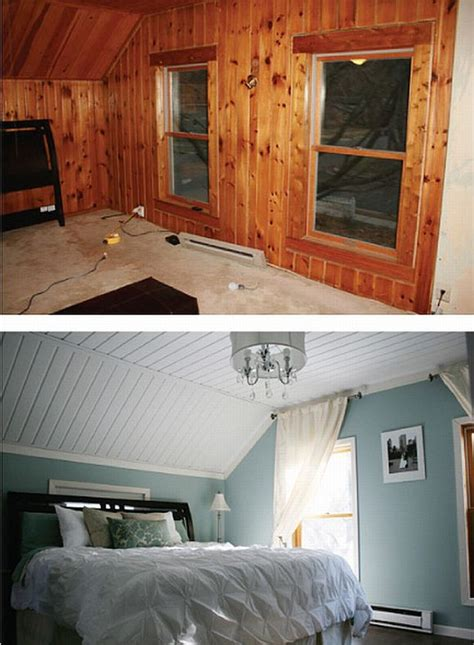 a solution for wood paneling add paint