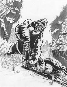 kong vs t-rex by FREAKCASTLE on DeviantArt
