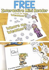 Reading Fluency Chart Free Interactive Printable Mini Book Weather Vocabulary