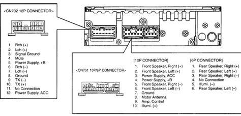 toyota tacoma    head unit pinout diagram