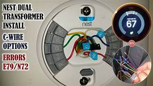 Nest Thermostat Install On A Dual Transformer System