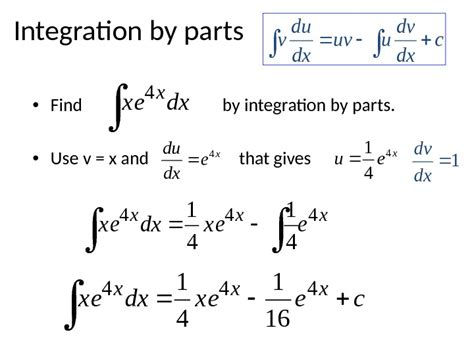 Integration By Parts • This Is The