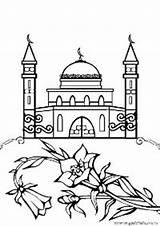 Coloring Mosque Islamic Masjid Ramadan Coloriage Islam Gambar Mewarnai Nabawi Sheets Terbaru Diwarnai Untuk Holidays Craft Specials Dessin Moschee Semoga sketch template
