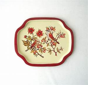 Vintage orioles tray small metal tin decorative home decor