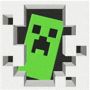 minecraft embroidery design large creeper in door minecraft iron on patch