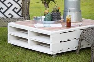 Fabriquer Une Table Basse En Palette : fabriquer salon de jardin en palette de bois 35 id es cr atives ~ Melissatoandfro.com Idées de Décoration
