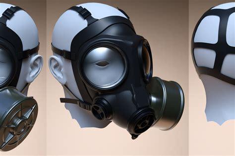 ladari 3d gas mask prop obj step iges 3d cad model grabcad