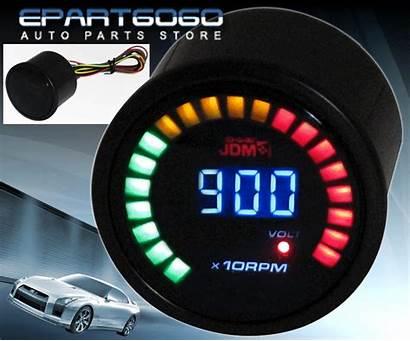 Tachometer Rpm Gauge Led Meter Digital Volt
