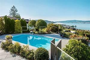 Pool Und Garten : garten mit pool und seesicht parc 39 s gartengestaltung gmbh ~ Michelbontemps.com Haus und Dekorationen