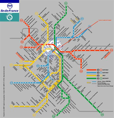 La Carte De Metro Rer by Lycee Louis Le Grand