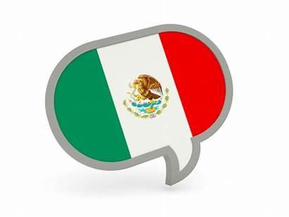 Mexico Icon Bubble Speech Flag Commercial Non