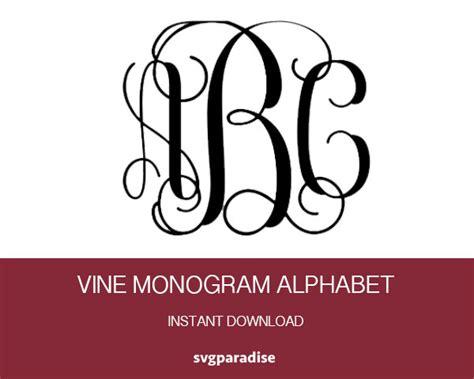 interlocking vine alphabet svg vine monogram cuttable font