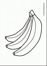Banana Drawing Tree Coloring Printable Getdrawings sketch template