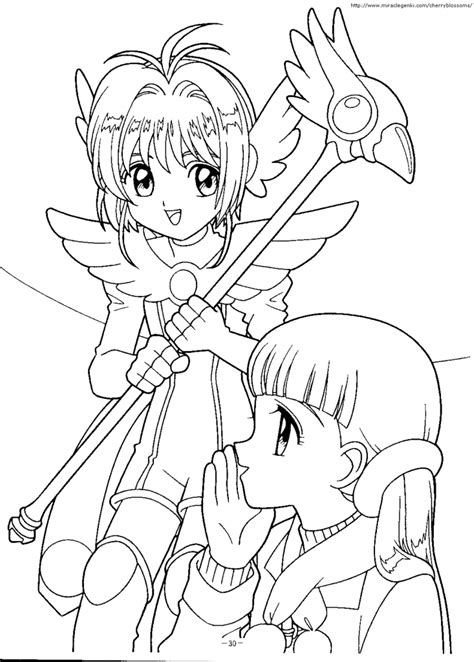 cardcaptor sakura coloring pages coloring home