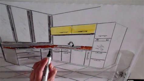 dessin cuisine en perspective architecture d 39 intérieur