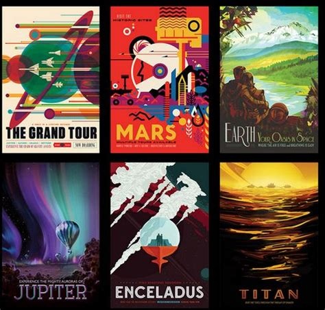 nasa  giving   retro space tourism posters