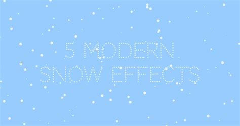modern snow effects   website