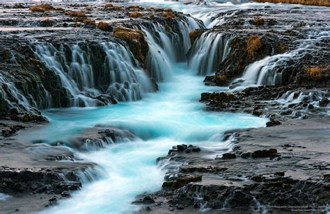 Bruarfoss Waterfalls Bruarfoss Waterfalls One Of The
