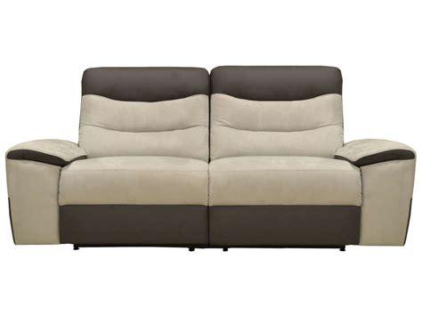 canape relax electrique conforama canapé fixe relaxation électrique 2 5 places en tissu
