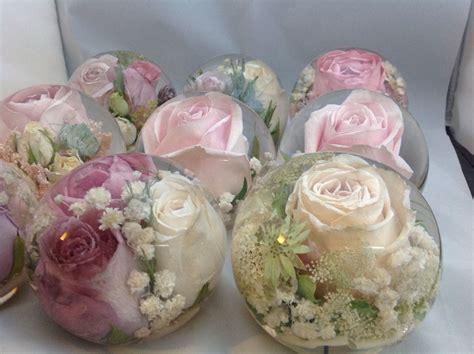wedding flower paperweights transforming  wedding