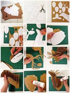 Tete De Cerf Carton : fabriquer tete de cerf carnaval pinterest t te de cerf cerf et tete de ~ Teatrodelosmanantiales.com Idées de Décoration