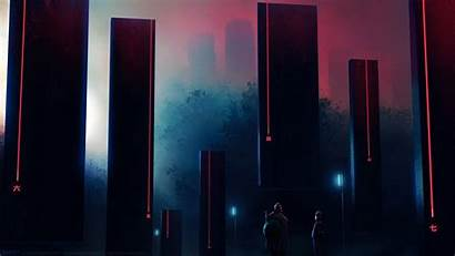 Balaskas Sci Fi Cyberpunk Tomb Structure Digital