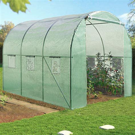 cuisine de 6m2 serre de jardin tunnel 6m verte en acier galvanisé serres de jard