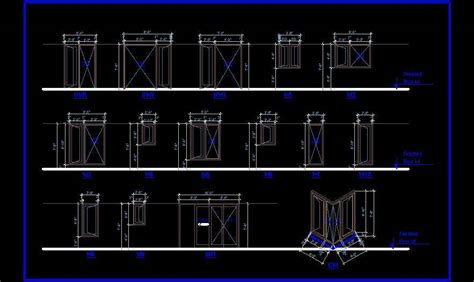 door window  elevation autocad dwg plan  design