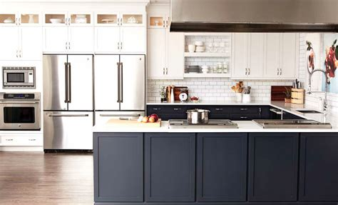 beautiful black  white kitchens  cottage market
