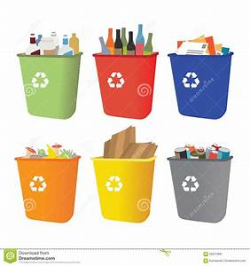 Papeleras De Reciclaje Con La Separación De La Basura Ilustración del Vector Imagen: 58251808