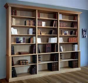 Bibliothèque Design Bois : bibliotheque bois massif accueil design et mobilier ~ Teatrodelosmanantiales.com Idées de Décoration
