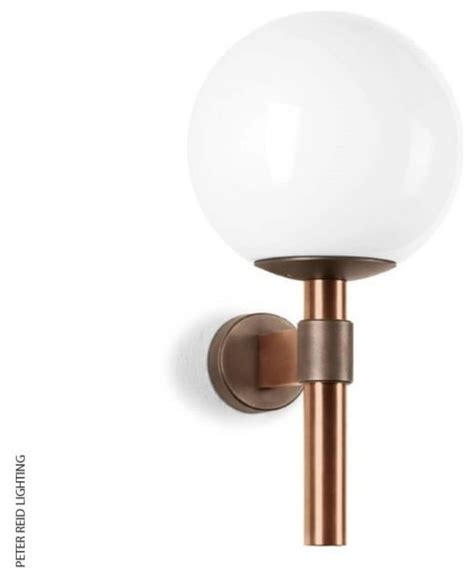 boom b 1218 globe wall light led contemporary outdoor
