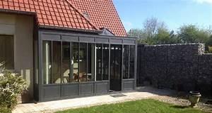 verandas verrieres et jardins d39hiver en acier fineline With type de toiture maison 4 type de double vitrage