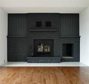 A, Bold, Black, Fireplace, Makeover, U2013, Design, Sponge