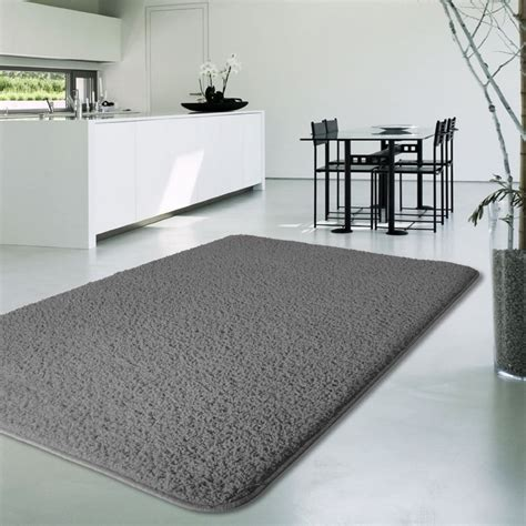 tapis salon tapis floral noir  gris pour salon au