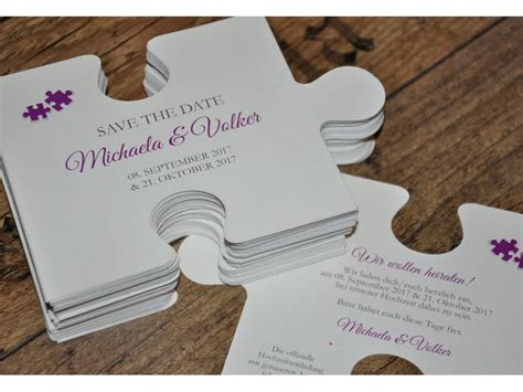 save  date karten puzzle