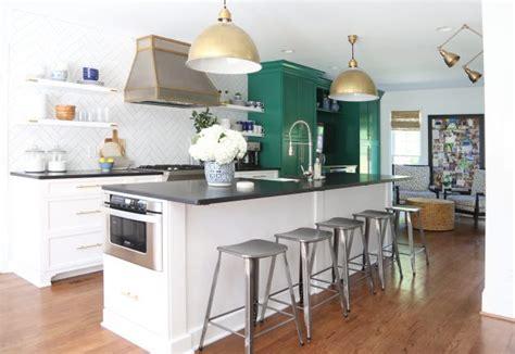 green  white kitchen renovation emily  clark