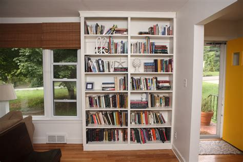 build built in bookcase white built in bookshelves diy projects