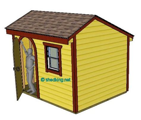10x8 saltbox shed plans