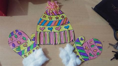 winter and craft ideas winter hat and mittens craft ideas for preschool 7327
