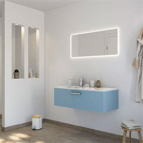 meuble de salle de bains de 100 224 119 bleu neo line leroy merlin