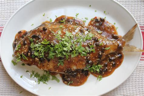 steamed  fish  spicy black bean sauce