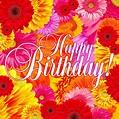 Bright Flowers Happy Birthday Card — Download on Funimada.com
