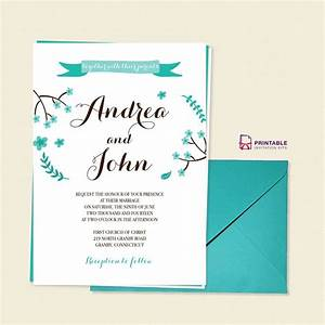 free pdf template floral calligraphy invitation template With edit photo wedding invitations