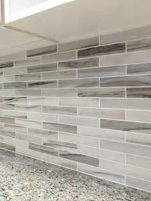 limestone backsplash kitchen modern white gray subway marble backsplash tile