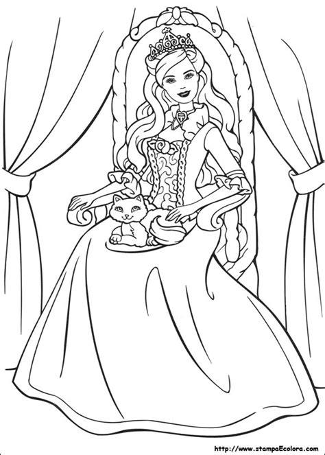 Tutte le pagine da colorare. Disegni de Barbie - La principessa e la povera